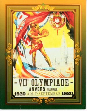 1996 Collect-A-Card Centennial Olympics 1920 Antwerp jumbo card