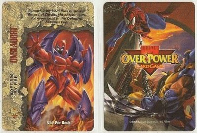 1996 Marvel Overpower Onslaught promo card #GC Baptism By Fire