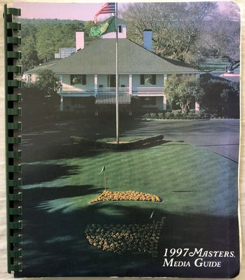 1997 Masters golf Media Guide (Tiger Woods wins first major at Augusta National)