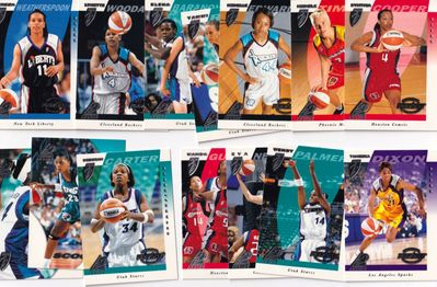 1997 Pinnacle Inside WNBA starter set of 14 Rookie Cards (Cynthia Cooper Tamecka Dixon Michele Timms Teresa Weatherspoon)