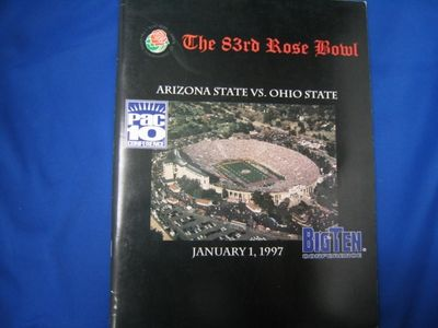 1997 Rose Bowl game Arizona State vs Ohio State media guide (Orlando Pace Jake Plummer Pat Tillman)