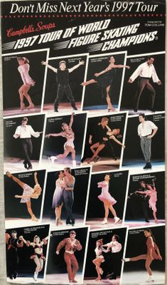 1997 Tour of World Figure Skating Champions advance tickets flyer (Michelle Kwan)