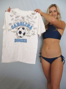1997 UNC National Champions Team autographed North Carolina Soccer shirt (Anson Dorrance Lorrie Fair Cindy Parlow Tiffany Roberts)