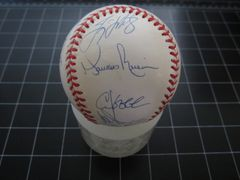 1998 New York Yankees team autographed World Series baseball Derek Jeter Tino Martinez Paul O'Neill Mariano Rivera Joe Torre (Steiner)