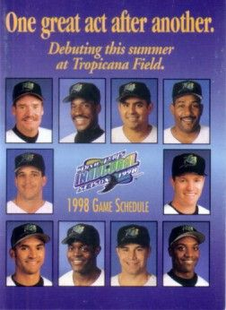 1998 Tampa Bay Devil Rays Inaugural pocket schedule