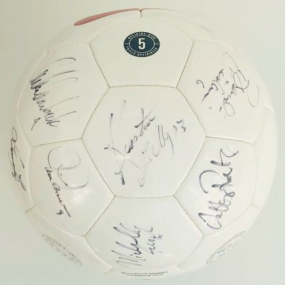 1999 U.S. Women's World Cup team autographed Nike soccer ball Mia Hamm Brandi Chastain (PSA/DNA)