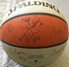 1999 Los Angeles Sparks team autographed WNBA basketball (Lisa Leslie DeLisha Milton)