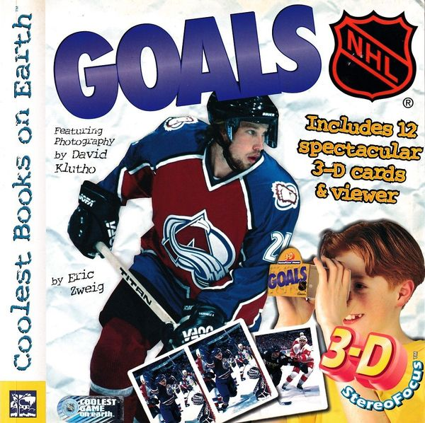 1999 NHL Goals softcover children's book with 11 3-D hockey cards and viewer (Peter Forsberg cover)