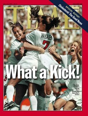 1999 US Women's World Cup Champions Soccer Team TIME magazine NO LABEL
