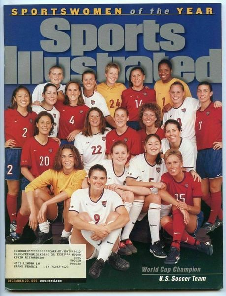1999 US Womens World Cup Champion Soccer Team Sports Illustrated Sportswomen of the Year issue