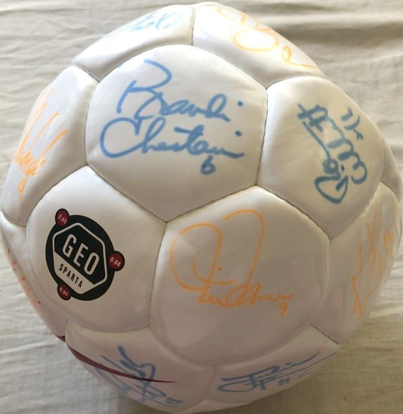 1999 U.S. Women's World Cup complete team autographed Nike soccer ball Mia Hamm Brandi Chastain Kristine Lilly (Total Sports Concepts)