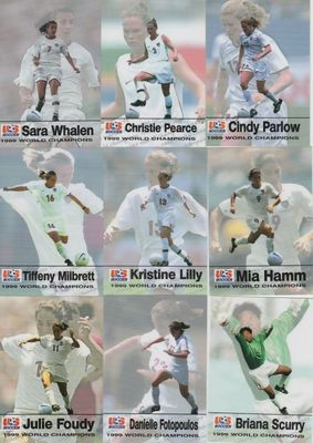 1999 U.S. Women's World Cup Champions Team complete Roox set of 19 soccer cards