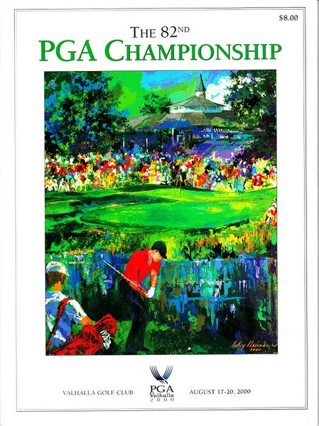 2000 PGA Championship Valhalla golf tournament program (Tiger Woods wins 5th major)