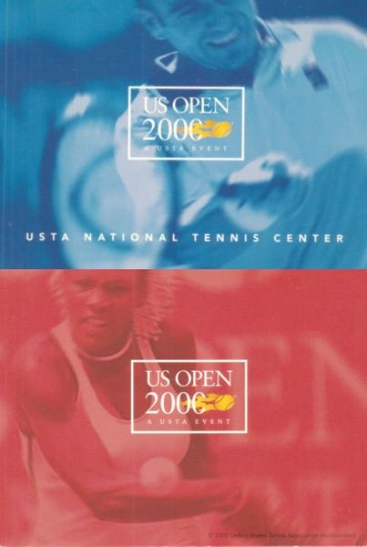 2000 U.S. Open tennis souvenir map (Andre Agassi & Serena Williams)