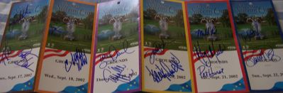 2002 U.S. Solheim Cup Team autographed ticket strip (Beth Daniel Juli Inkster Cristie Kerr Patty Sheehan)