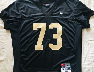 Iowa Hawkeyes authentic Nike September 4 2004 Throwback Game stitched black jersey