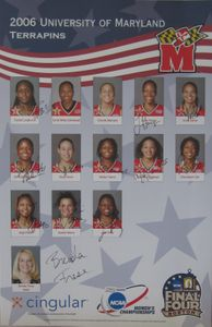 2006 Maryland Women's Basketball NCAA Champs Team autographed poster
