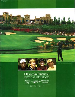 2005 Battle at the Bridges golf program (Tiger Woods Phil Mickelson)