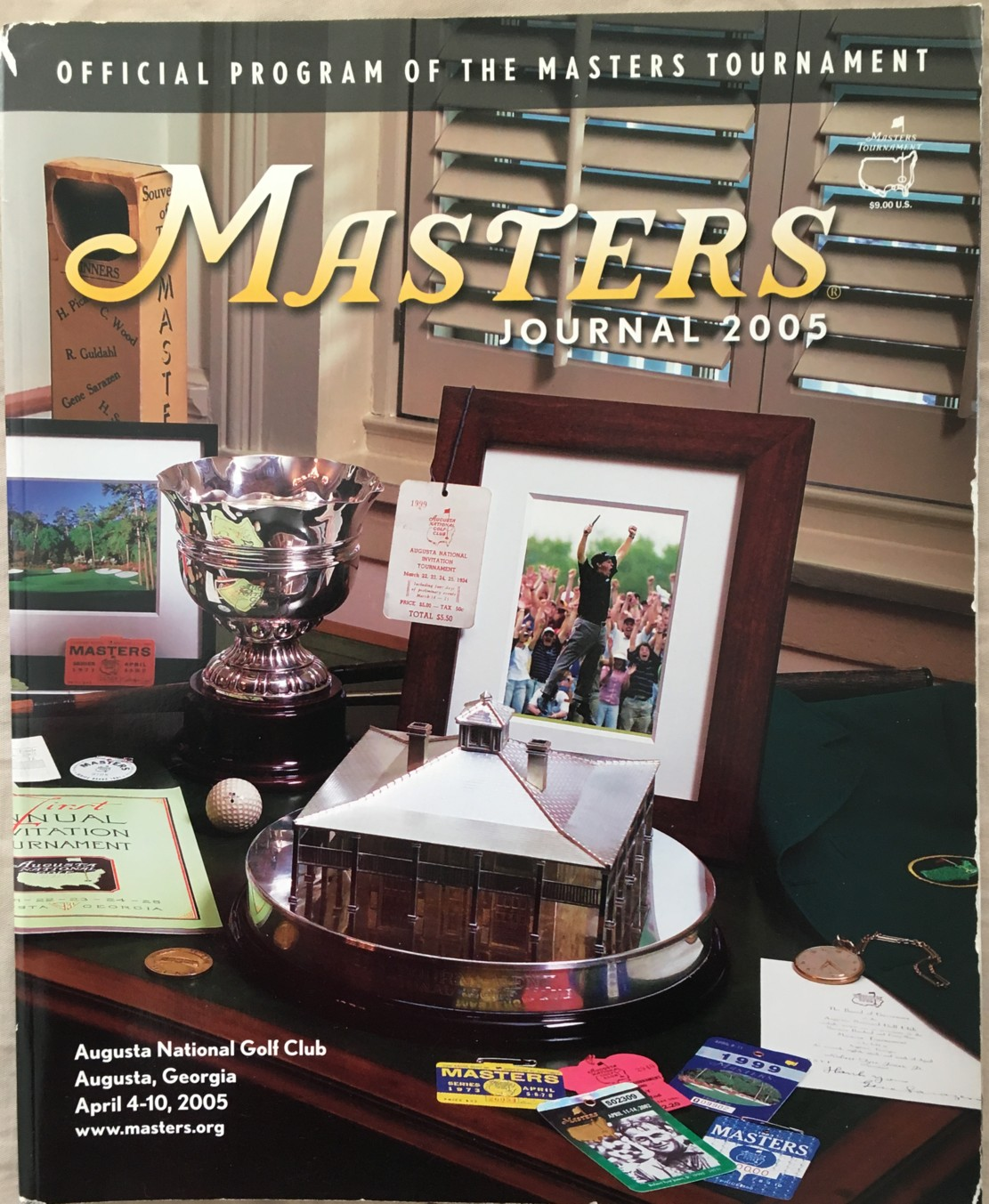 Marvelous 2005 Masters Journal Golf Tournament Program Tiger Woods Wins 4Th Green Jacket Gmtry Best Dining Table And Chair Ideas Images Gmtryco
