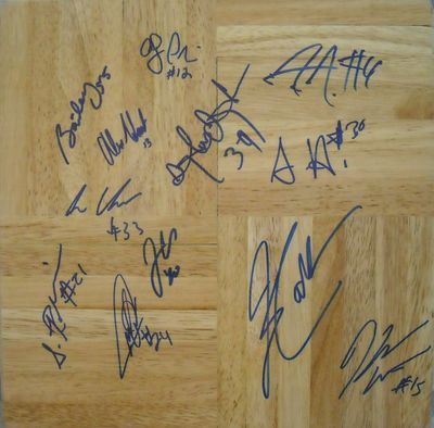 2008-09 UConn Huskies Final 4 team autographed floor Jim Calhoun Hasheem Thabeet Kemba Walker