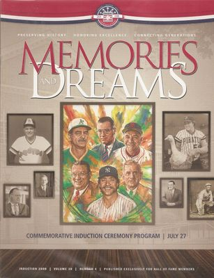 2008 Baseball Hall of Fame Induction Program (Goose Gossage Dick Williams)