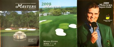 2008 Masters Media Guide Journal (Program) Players Guide and Sunday Pairings Sheet