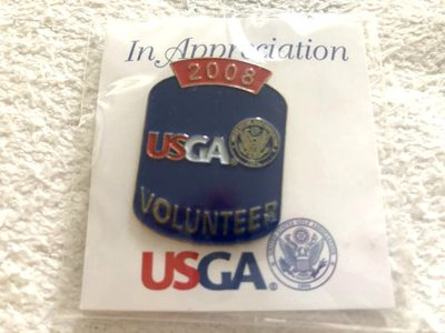 2008 U.S. Open Torrey Pines USGA Volunteer golf pin MINT AND SEALED