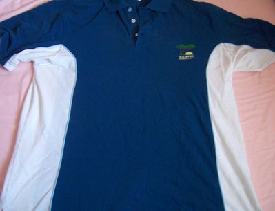 2008 U.S. Open Torrey Pines blue and white volunteer Ashworth golf shirt