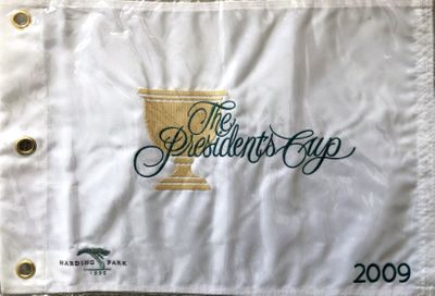 2009 President's Cup embroidered golf pin flag NEW