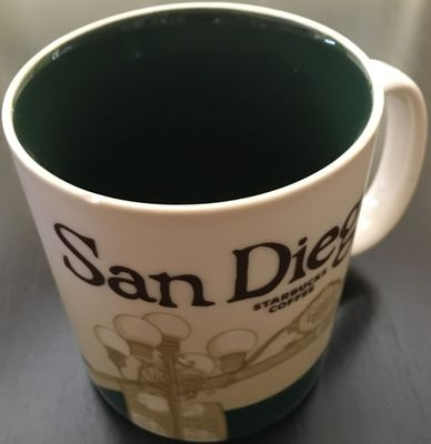 Starbucks 2008 Global Icon Series San Diego 16 ounce collector coffee mug (edge chip)