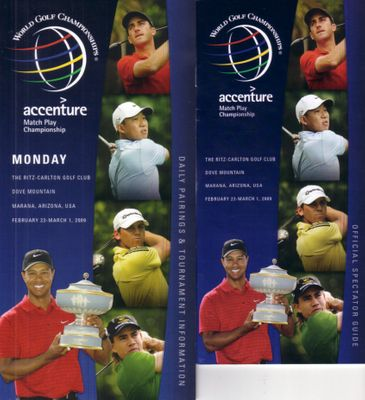2009 WGC Accenture Match Play Championship tournament information & spectator guide (Tiger Woods)