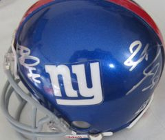 2011 New York Giants autographed mini helmet (Brandon Jacobs Hakeem Nicks Bear Pascoe Antrel Rolle)