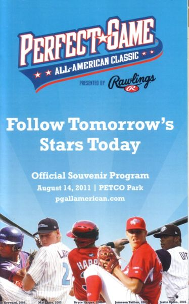2011 Perfect Game High School All-American Classic baseball program (Carlos Correa Max Fried Joey Gallo Lucas Giolito Corey Seager)