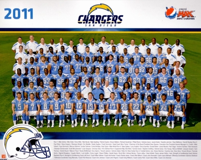 2011 San Diego Chargers 8x10 team photo (Ryan Mathews Philip Rivers)