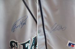 2012 Seattle Mariners team autographed authentic jersey (Felix Hernandez Ichiro Suzuki)