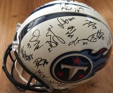 2012 Tennessee Titans team autographed authentic full size game model helmet Chris Johnson Michael Griffin Bruce Matthews Derrick Morgan