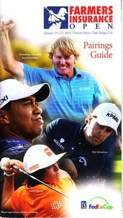 2013 Farmers Insurance Open program and pairings guide (Tiger Woods 75th PGA Tour Win)
