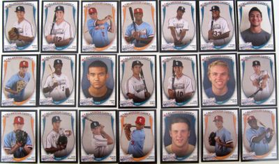 2013 Perfect Game Bowman partial RC set (Jake Gatewood Alex Jackson Kodi Medeiros)