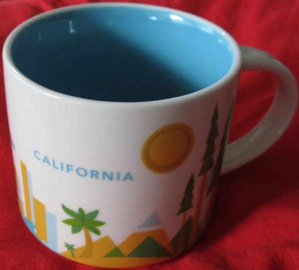 Starbucks 2013 You Are Here Collection California 14 ounce collector coffee mug NEW