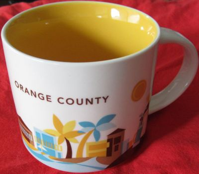 Starbucks 2013 You Are Here Collection Orange County 14 ounce collector coffee mug NEW