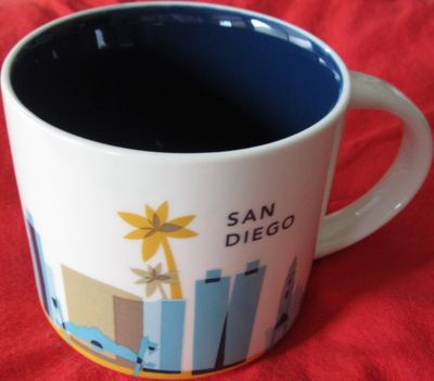 Starbucks 2013 You Are Here Collection San Diego 14 ounce collector coffee mug NEW