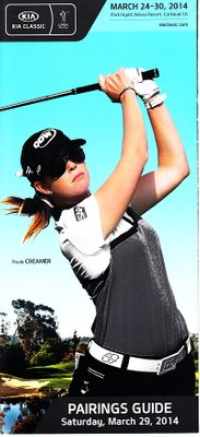 2014 LPGA Kia Classic golf Saturday pairings guide (Paula Creamer)