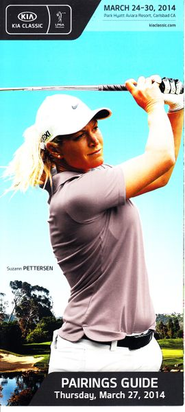 2014 LPGA Kia Classic golf Thursday pairings guide (Suzann Pettersen)