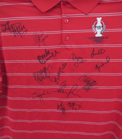 2015 U.S. Solheim Cup Team autographed official golf shirt (Paula Creamer Stacy Lewis Lexi Thompson Michelle Wie)