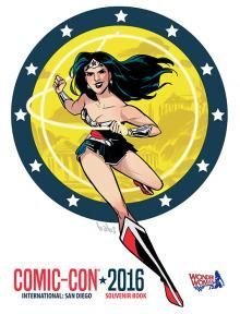 2016 San Diego Comic-Con souvenir book program (Wonder Woman cover)