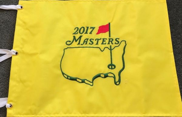 2017 Masters golf pin flag (Sergio Garcia wins first major title)
