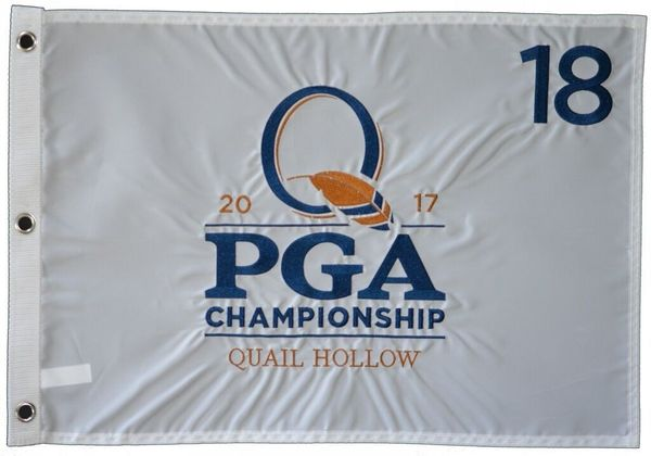 2017 PGA Championship embroidered golf pin flag (Justin Thomas wins first major title)