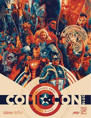 2018 San Diego Comic-Con Souvenir Book program (The Avengers)