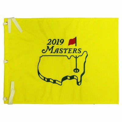 2019 Masters golf pin flag (Tiger Woods wins 5th green jacket and 15th major)