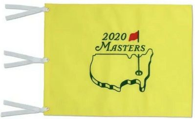 2020 Masters golf pin flag (Dustin Johnson wins second major)